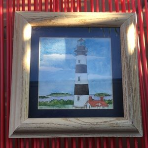WOODEN FRAMED 🖼 LIGHTHOUSE TOWER